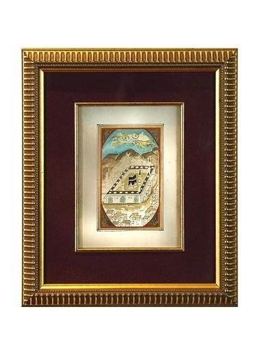 BEDESTEN PAZAR Minyatür 25x20 cm El Yapımı Dekoratif Çerçeveli KABE FİGÜRÜ Renkli